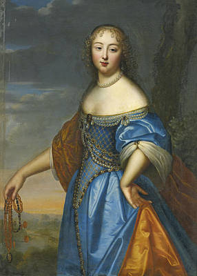Painting - Portrait Of A Lady by Attributed to Charles Beaubrun