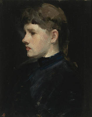 Painting - Portrait Of A Lady by Frank Duveneck