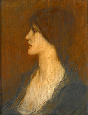 Drawing - Portrait Of A Lady by George Henry Boughton