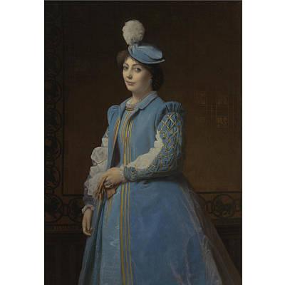 Portrait Of A Lady In Blue Art Print