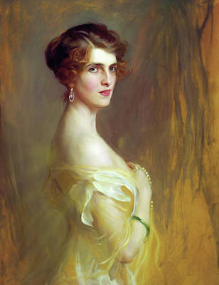 Portrait Of A Lady In Yellow Art Print