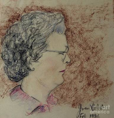 Pastel - Portrait Of A Lady by Joan-Violet Stretch