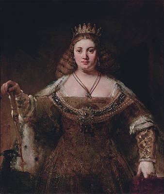 Rembrandt Harmensz Van Rijn Painting - Portrait Of A Lady by Rembrandt Harmensz van Rijn