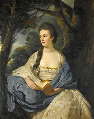 Painting - Portrait Of A Lady Said To Be Susanna Mrs. Baron Bedingfield Of Ditchingham Hall Norfolk by Hugh Barron