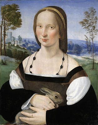 Painting - Portrait Of A Lady With A Rabbit by Ridolfo Ghirlandaio