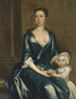 Painting - Portrait Of A Lady With Her Daughter by Treasury Classics Art
