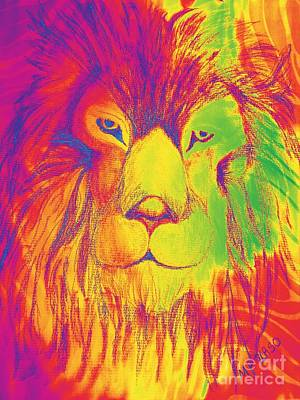 Photograph - Portrait Of A Lion 1 by Maria Urso