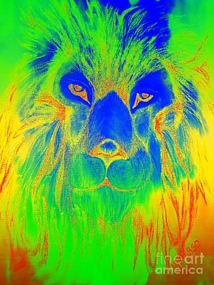 Photograph - Portrait Of A Lion 2 by Maria Urso
