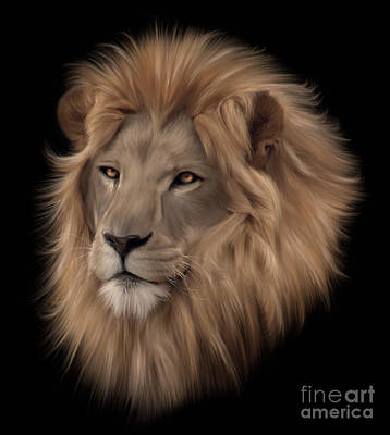 Painting - Portrait Of A Lion by Lynn Jackson