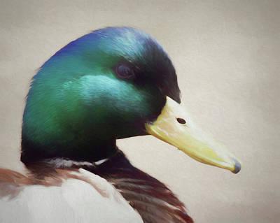 Digital Art - Portrait Of A Mallard by Ernie Echols