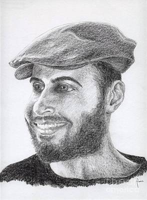 Drawing - Portrait Of A Man by Annemeet Hasidi- van der Leij