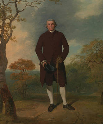 Painting - Portrait Of A Man, Called George Basil Woodd by Francis Wheatley