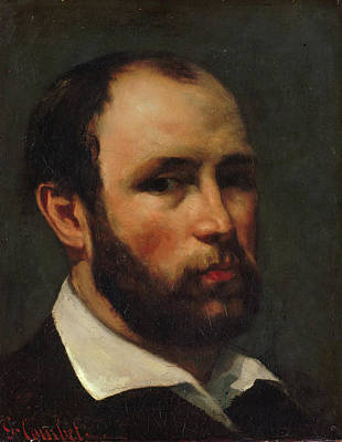Courbet Painting - Portrait Of A Man by Gustave Courbet