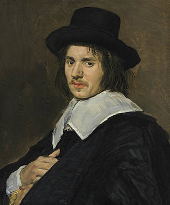 Painting - Portrait Of A Man In A New Hat by Frans Hals