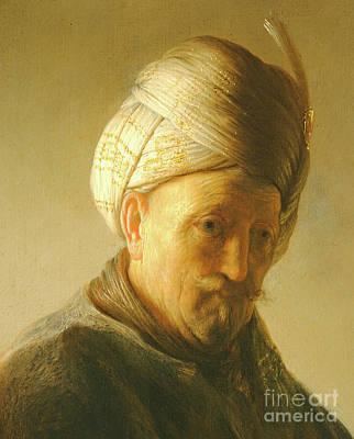 Portrait Of A Man In A Turban Art Print