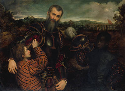Painting - Portrait Of A Man In Armor And Two Pages by Mountain Dreams