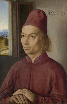 Digital Art - Portrait Of A Man Jan Van Winckele by Dirk Bouts