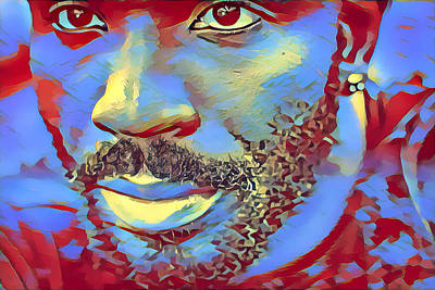 Digital Art - Portrait Of A Man Of Color by Maggie Vlazny