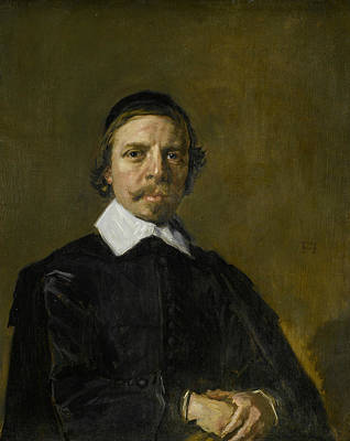 Painting - Portrait Of A Man, Possibly A Minister by Frans Hals