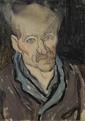 Painting - Portrait Of A Man Saint Remy De Provence  October 1889 Vincent Van Gogh 1853  1890 by Artistic Panda