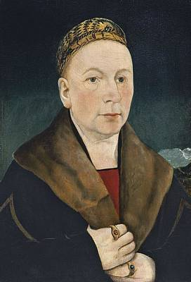 Curated Beach Towels - Portrait of a Man Sebastian Gessler  ca. 1515 by Martin Schaffner by Martin Schaffner