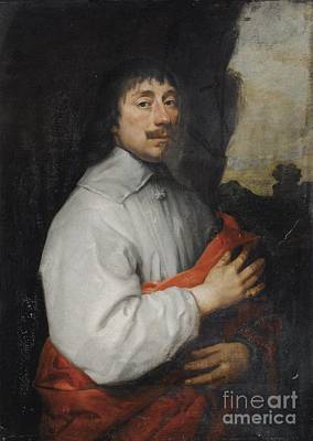 Painting - Portrait Of A Man With Red Drapery by Celestial Images