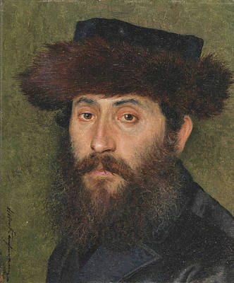 Painting - Portrait Of A Man With Streimel by Isidor Kaufmann
