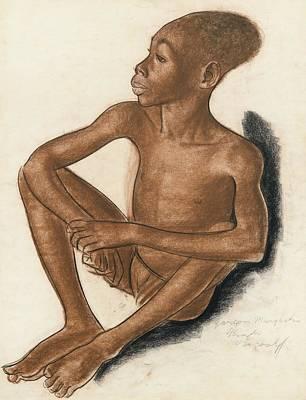 Portrait Of A Mangbetu Boy Art Print by MotionAge Designs