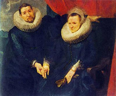 Digital Art - Portrait Of A Married Couple  by Sir Antony van Dyck