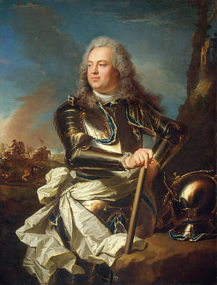 France Painting - Portrait Of A Military Officer by Hyacinthe Rigaud