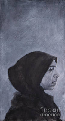Drawing - Portrait of a Moroccan Girl by Jonathan Wommack
