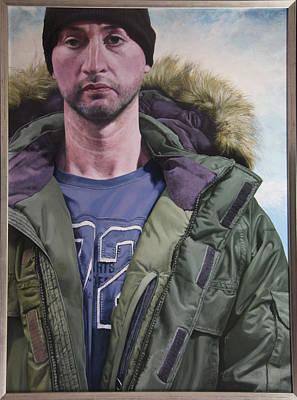 Portrait Of A Mountain Walker. Art Print by Harry Robertson
