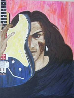 Portrait Of Evil Painting - Portrait Of A Musician by Lauran Childs
