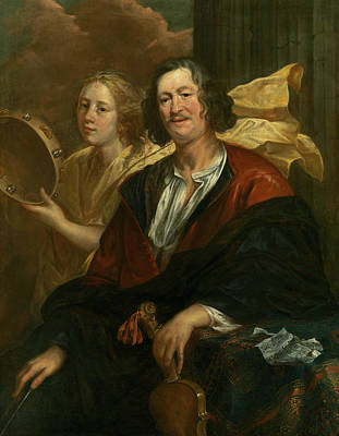 Painting - Portrait Of A Musician With His Muse by Jacob Jordaens