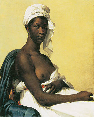 African Woman Painting - Portrait Of A Negress by Marie-Guillemine Benoist