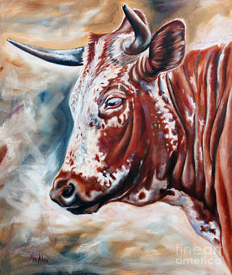 Portrait Of A Nguni Art Print by Ilse Kleyn