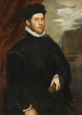 Call Painting - Portrait Of A Nobleman by Jacopo Robusti called Jacopo Tintoretto