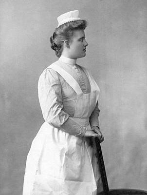Healthcare And Medicine Photograph - Portrait Of A Nurse by Underwood Archives