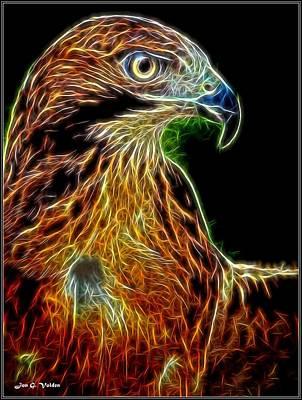 Painting - Portrait Of A Phoenix by Jon Volden