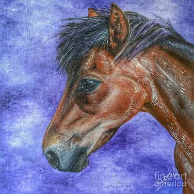 Painting - Portrait Of A Pony by YoursByShores Isabella Shores