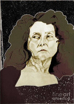 Painting - Portrait Of A Queen Of The Night by Greta Corens