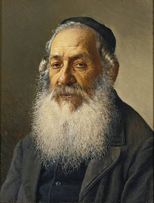 Painting - Portrait Of A Rabbi 2 by Isidor Kaufmann