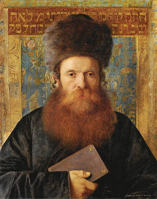 Painting - Portrait Of A Rabbi 4 by Isidor Kaufmann