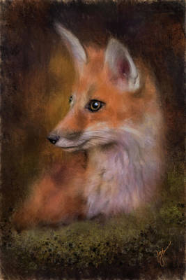Painting - Portrait Of A Red Fox by Jai Johnson
