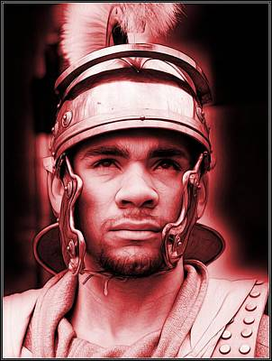 Photograph - Portrait Of A Roman Soldier by Jon Volden