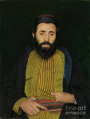 Isidor Kaufmann Painting - Portrait Of A Sephardic Jew by Celestial Images