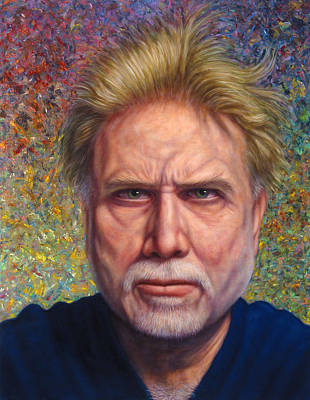 Self Portrait Painting - Portrait Of A Serious Artist by James W Johnson