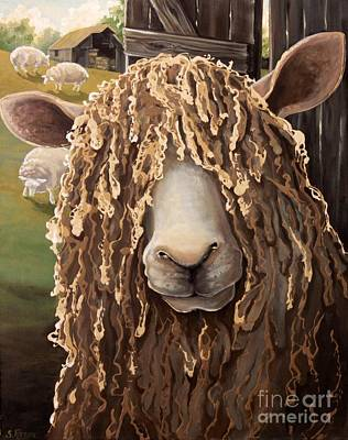 Portrait Of A Sheep Original by Suzanne Rende-Chorno