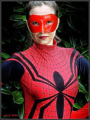 Photograph - Portrait Of A Spider Woman by Jon Volden
