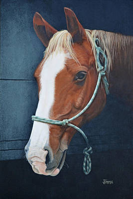 Painting - Portrait Of A Spirited Horse by Jimmie Bartlett